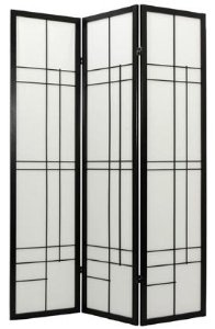 Contemporary Modern Unique Room Divider - 6ft. Eudes Japanese Shoji Folding Privacy Portable Floor Screen - 4 Colors 4 Sizes