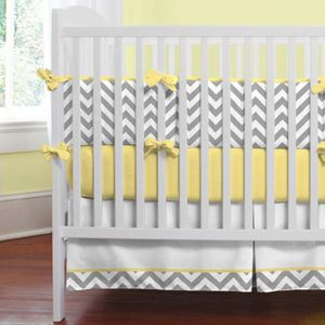 Yellow Grey and purple Baby Bedding | Pinterest for moms: How to design a nursery