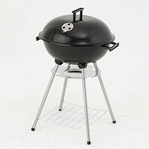 Charcoal Kettle BBQ Has A Twin Vent System For Added Heat Control Built In Ash Catcher And Rectangular Wire Shelf Ideal For Smaller Garden Areas Or Patios By eCommerce Excellence