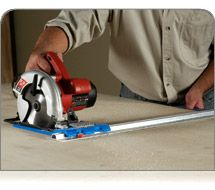 Kreg Rip-Cut | Cut sheet goods easily and accurately using your circular saw and this helpful saw guide.