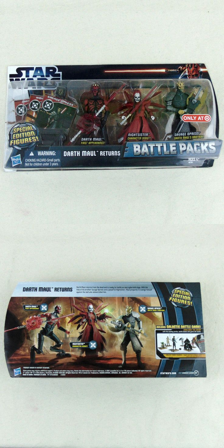 Action Figures 7114: Star Wars Clone Wars Darth Maul Returns 3 Pack Nightsister Savage Opress Target -> BUY IT NOW ONLY: $49.99 on eBay!