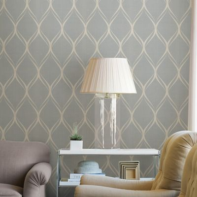 "Platinum 33' x 20.5"" Gustav Geometric Wallpaper 