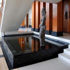 Spiritural sculpture rising out, Indoor Pond