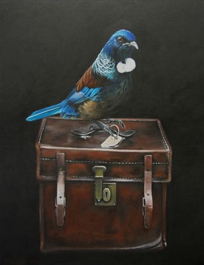 New Zealand Tui - 'Tui's Case' by Jane Crisp. imagevault.co.nz