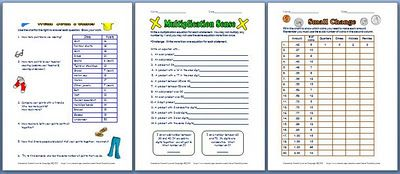 Classroom Freebies: Math Enrichment Printables