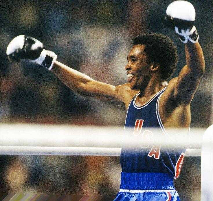 1976 Summer Olympics:  Sugar Ray Leonard of the US after winning Light…