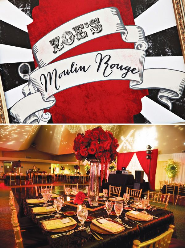 Fabulous Moulin Rouge Themed Party (Quinceañera) by One Stone Events