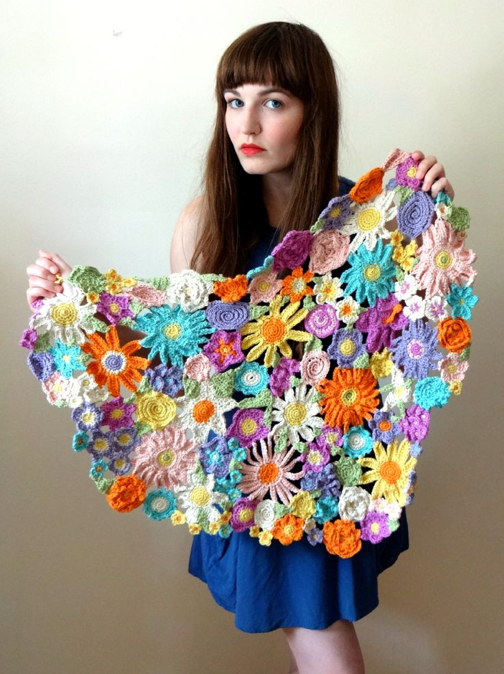 The Finale! A Heart In Bloom - By Cory U of CUExperiments.  It took 8 balls of yarn, over 150 crocheted blooms, 93+ hours of work, & 100 days to complete the experiment that you see before you.