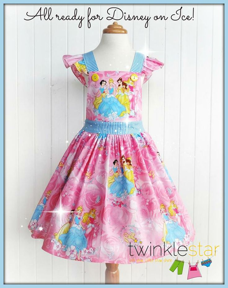 I made this dress for my daughter for our trip to Disney on Ice 2013