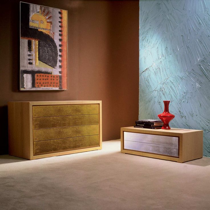 Chest of drawers oliver 2 drawers, 100% Made in Italy and artisan product | milanomondo
