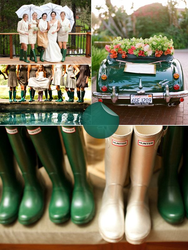 Hunter Green Wedding Inspiration. Did you know Hunter Green was a trend for 2014?