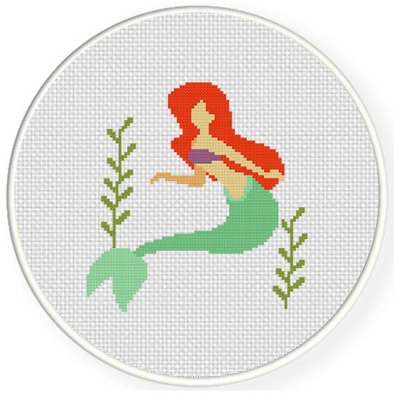 FREE for April 4th 2015 Only - Little Mermaid Cross Stitch Pattern