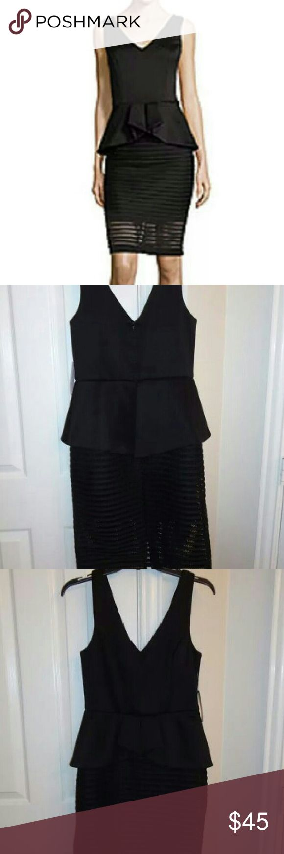 Black dress very - Bisou Bisou Sleveless Peplum Dress Very Beautiful Bisou Bisou Sleeveless Black Peplum Dress In Size 6