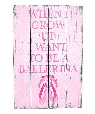 Take a look at this Ballerina Distressed Wall Art by Concepts on #zulily today!