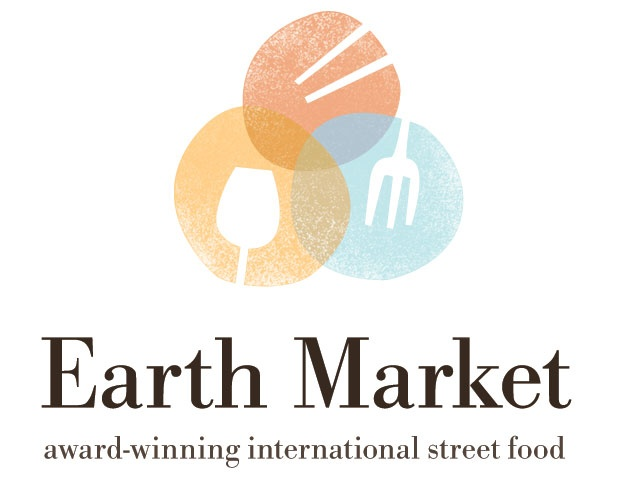 I'm a sucker for circles and things that come in threes. Earth Market logo