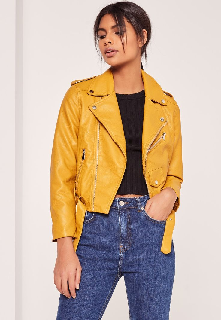 Every Bad Gurl Needs A Faux Leather Jacket And This Mustard Yellow Beaut Is Top Of Our Wish-list ...