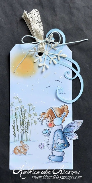 Copic Marker Europe: how to make a winter-ish tag