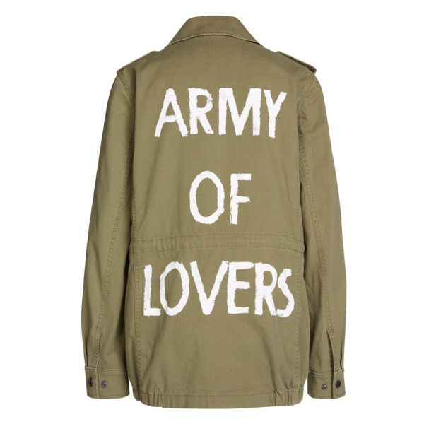 Army Of Lovers Military Jacket ($510) ❤ liked on Polyvore featuring outerwear, jackets, tops, lightweight military jacket, brown jacket, military field jacket, grunge jacket and pocket jacket