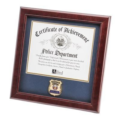 Police Certificate Frame with Medallion