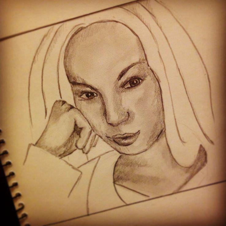#draw21days. Day 21!!! Self portrait (from selfie).