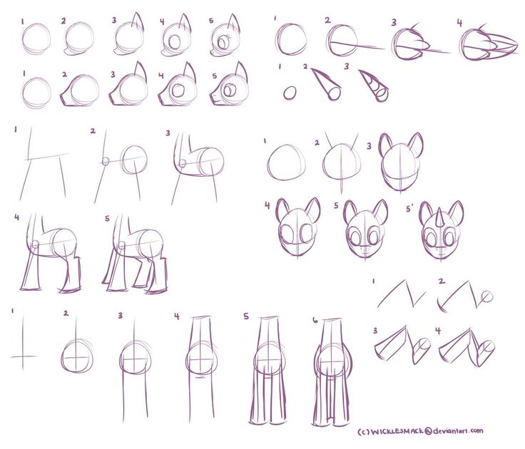 basic mlp body part tutorial by wicklesmack