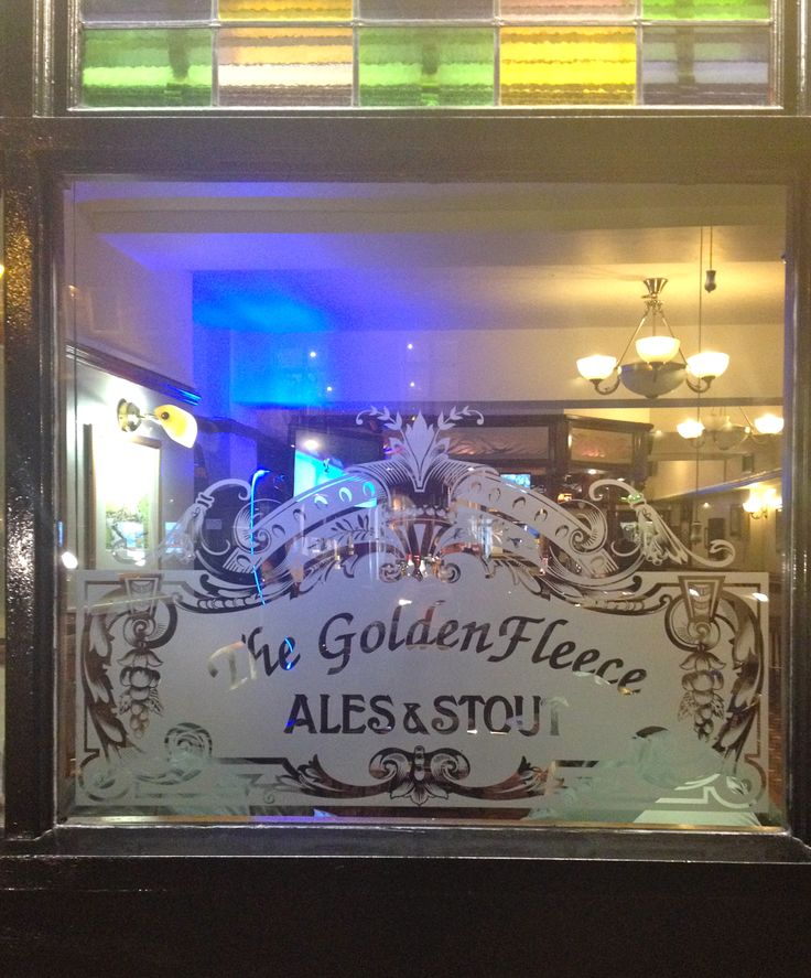 Acid Etched Glass Replacement Traditional Pub Window