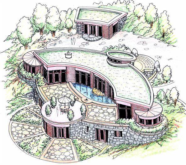 Diseños de Arquitectura Biológica de Geometría Sagrada. (imágenes)
