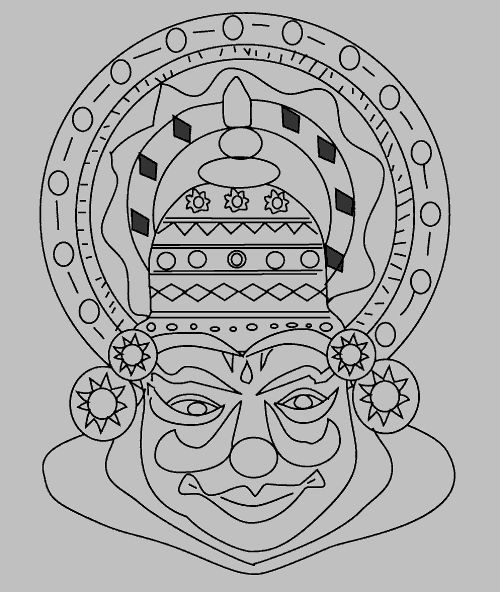 Color your kathakali mask
