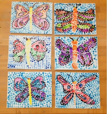 Pointillism Butterflies-Grade 1,2,3-Art with Mr. Giannetto Blog