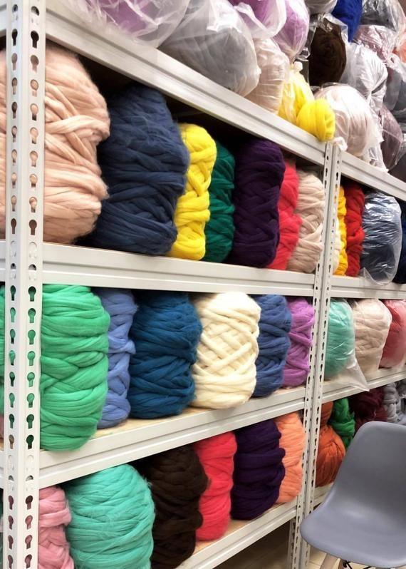 Wholesale 19 Micron Free Shipping Super Bulky Merino Wool Yarns