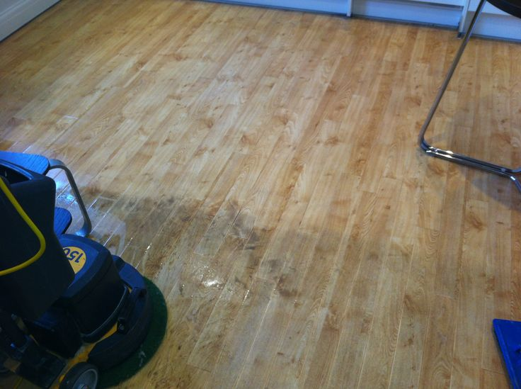 Karndean Cleaning in Bath. Another area showing what a difference a  Professional Clean & Seal can make!