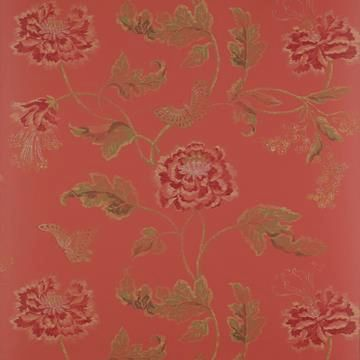 Colefax and Fowler Poppy & Butterfly Tapet
