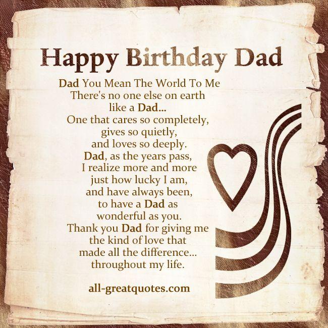 Best 25 Dad Birthday Cards Ideas On Pinterest: Best 25+ Birthday Poems For Dad Ideas On Pinterest