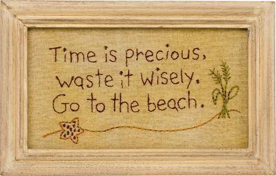 Go To The Beach Stitchery
