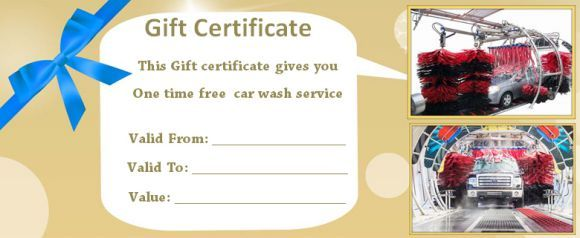 16 Personalized Auto Detailing Gift Certificate Templates