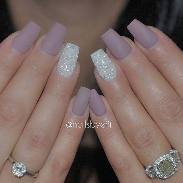Uñas morado y plata silver purpler nails uñas