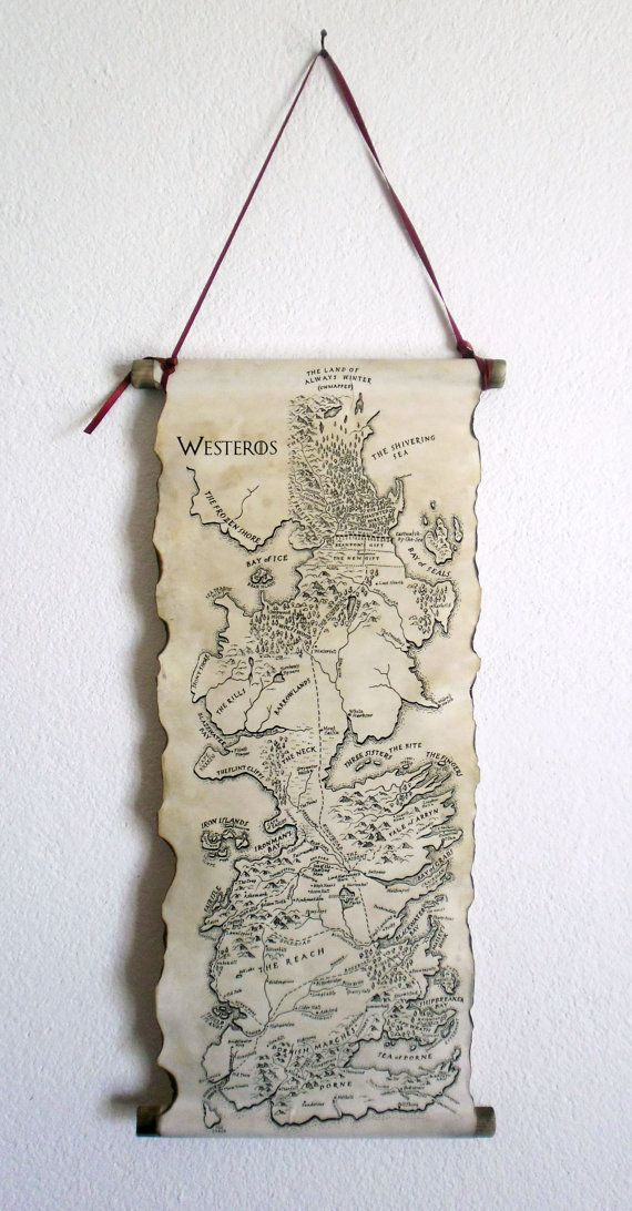 Game of Thrones Map Westeros Map GoT Map Poster by LandOfScrolls