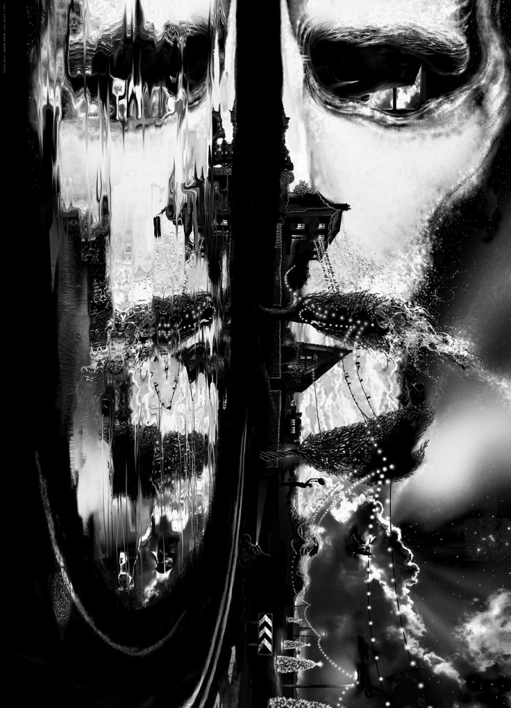 Self portrait, digital drawing.