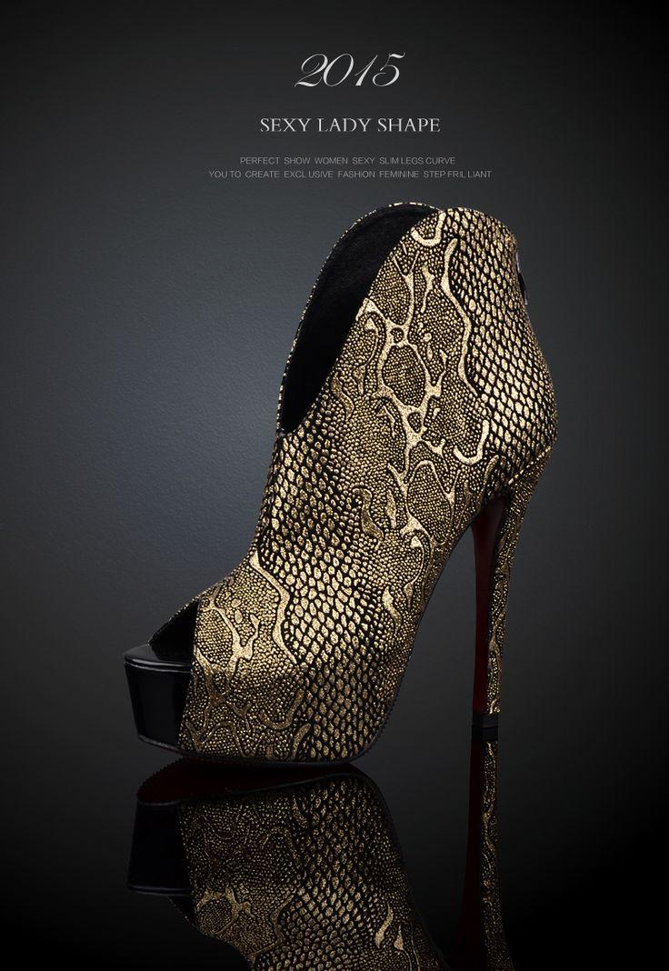 Кожаные сапоги на высоких каблуках золотые туфли осени сексуальные туфли на банкетных с открытым носом