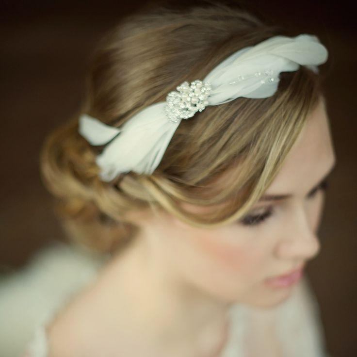 Abigail Feather Headband