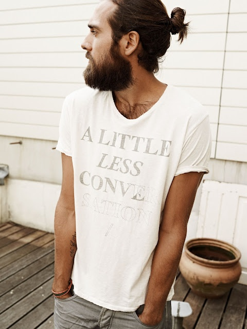 A little less conversation shirt | Christian Göran. The beard!