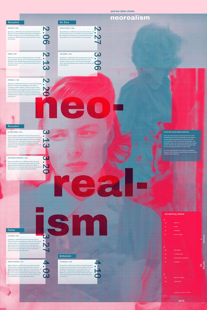 Neorealism (post war italian cinema) poster in Fresh