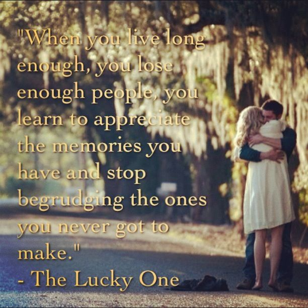 The Lucky One, the one Nicholas Sparks movie where the guy you want to die is the one who dies. Sad but true.