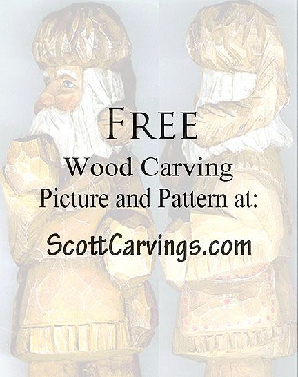 Winter WoodsmanWood Carving Pattern (and others) from Scott Carvings
