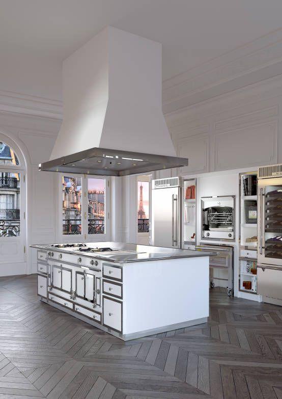 Ilot Château : Cocinas de estilo clásico de La Cornue