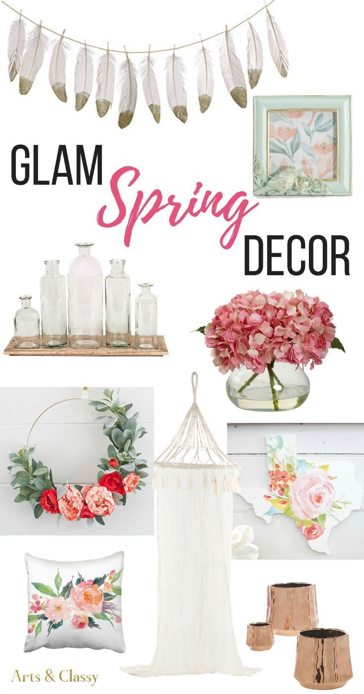You'll love these gorgeous finds! These are my favorite glam spring decor items. | Simple Modern and Glamorous Spring Decor on a budget!
