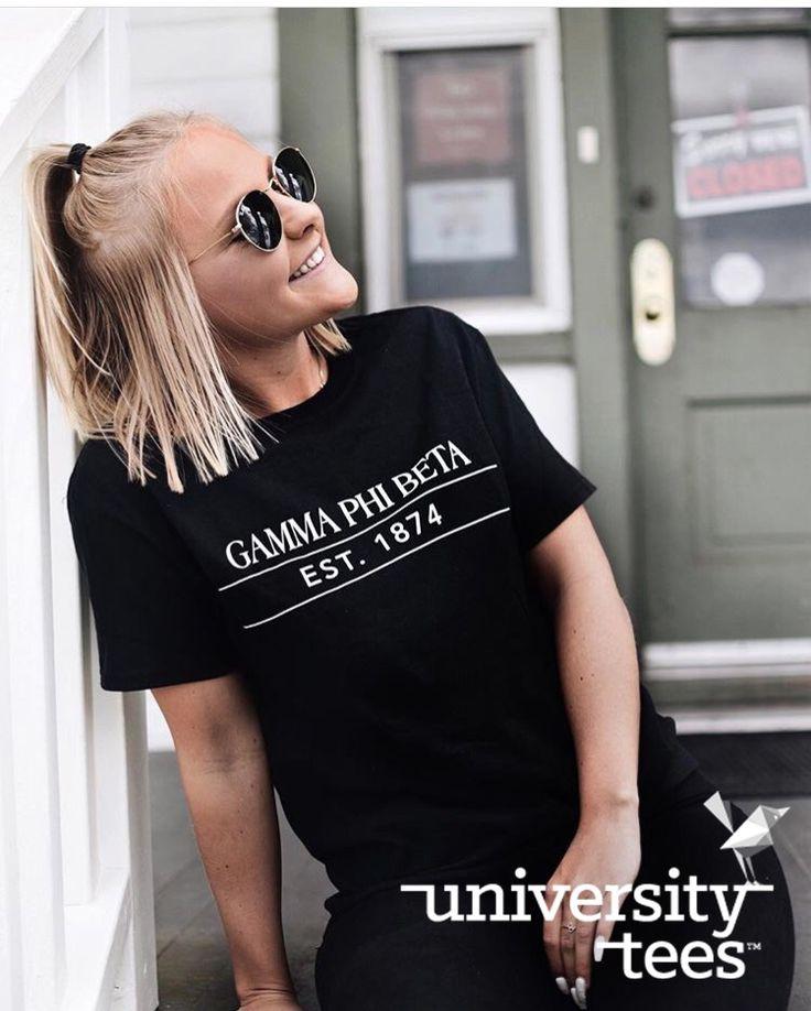 back in black | Gamma Phi Beta | Made by University Tees | universitytees.com