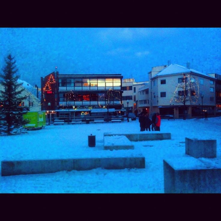 A lovely shot of the main square in Bryne. #bryne #jæren #regionstavanger #norway