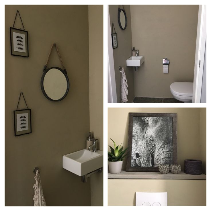 Toilet #beige #geentegelsaandemuur #bathroom #landelijk #toilet #toiletinrichting