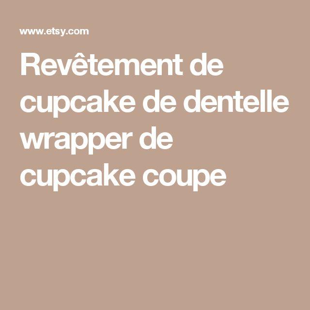 Revêtement de cupcake de dentelle wrapper de cupcake coupe